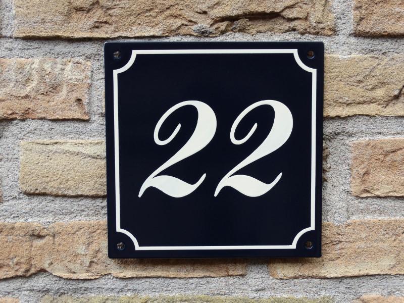 huisnummerbord huisnummerplaat handgeschilderd