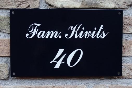 naambord landelijk handgeschilderd rechthoekig