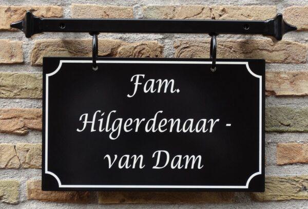 Naambord met frame, handgeschilderd. Model Haarlem Groot.