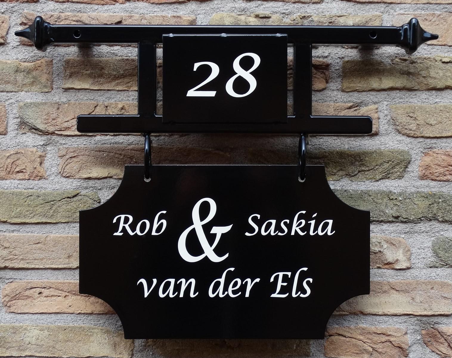Naambord met huisnummer origineel